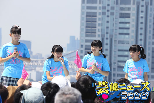 【TIF2014】アイドリング!!!&さくら学院フレッシュなメンバー!橋本瑠果は成長痛告白